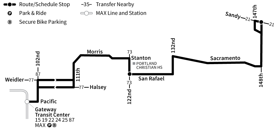 Bus Line 23 route map