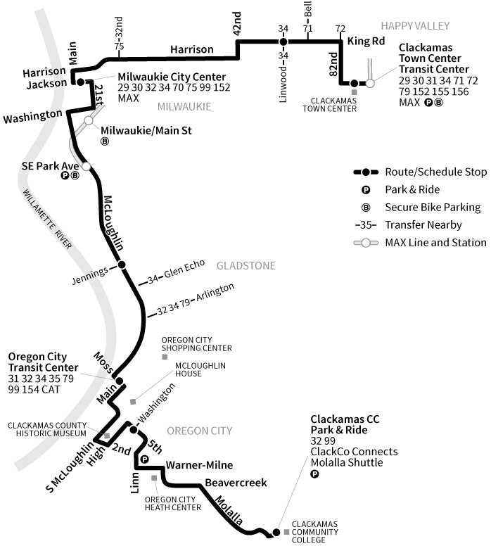 Bus Line 33 route map