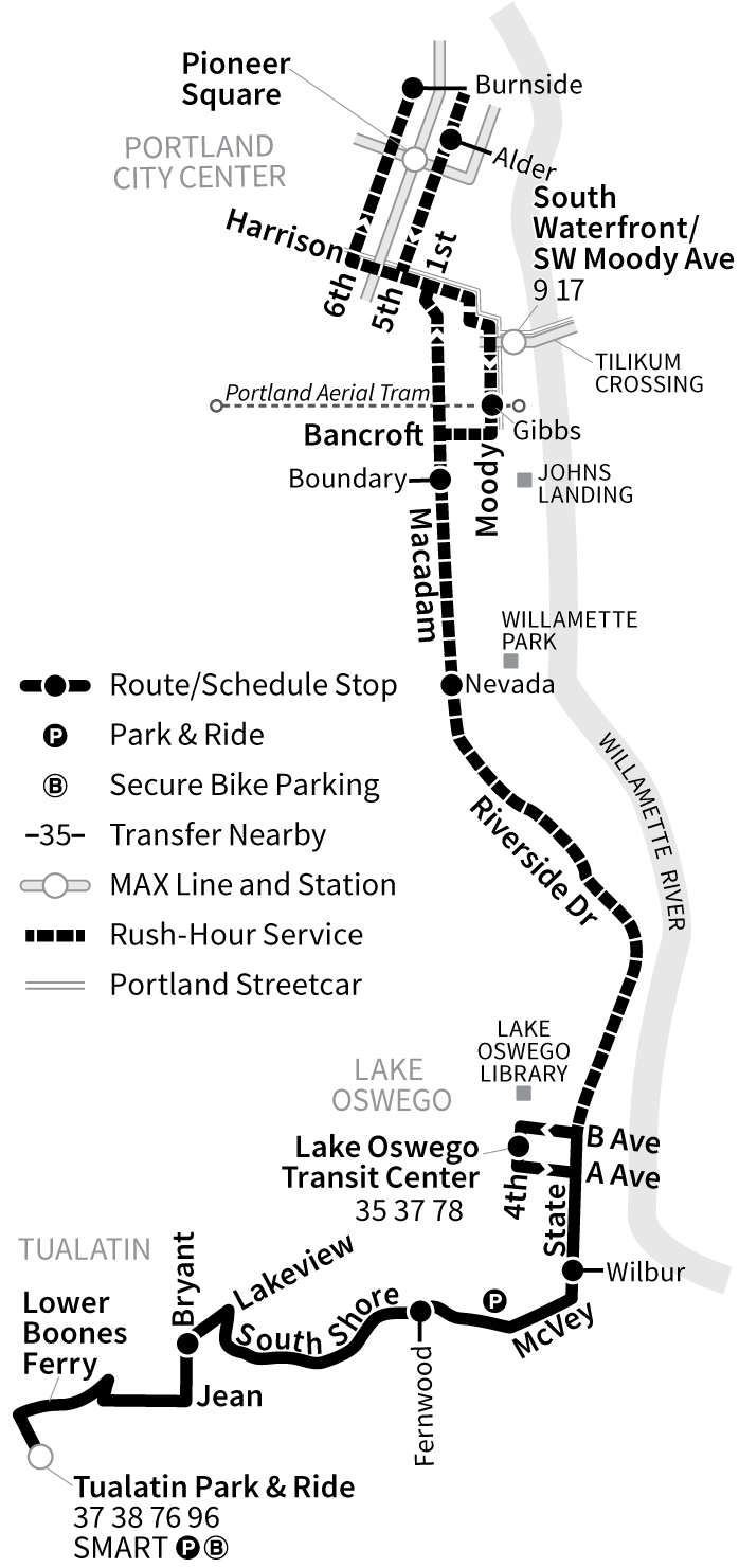 Bus Line 36 route map