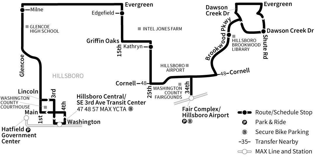 Bus Line 46 route map
