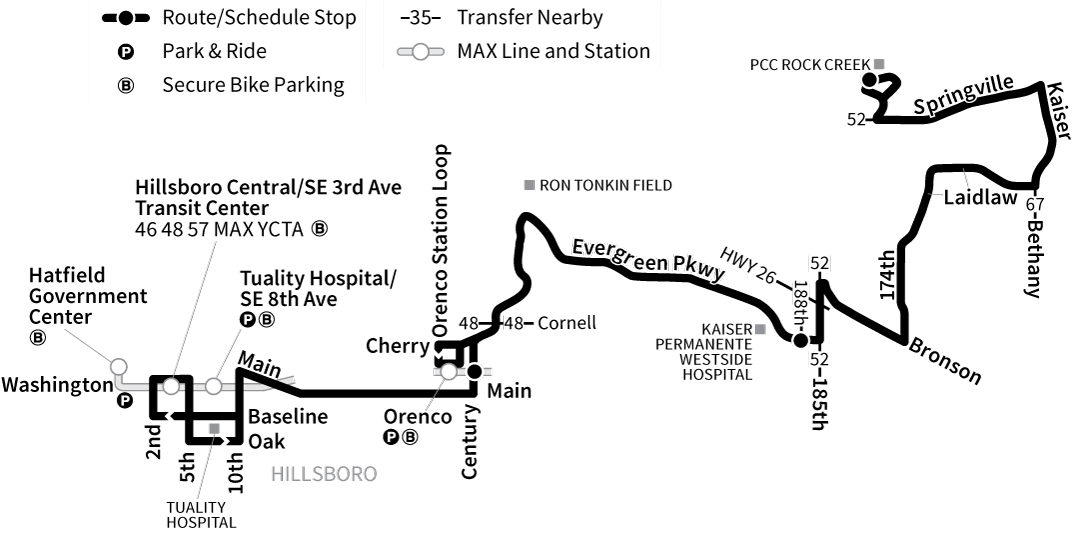Bus Line 47 route map