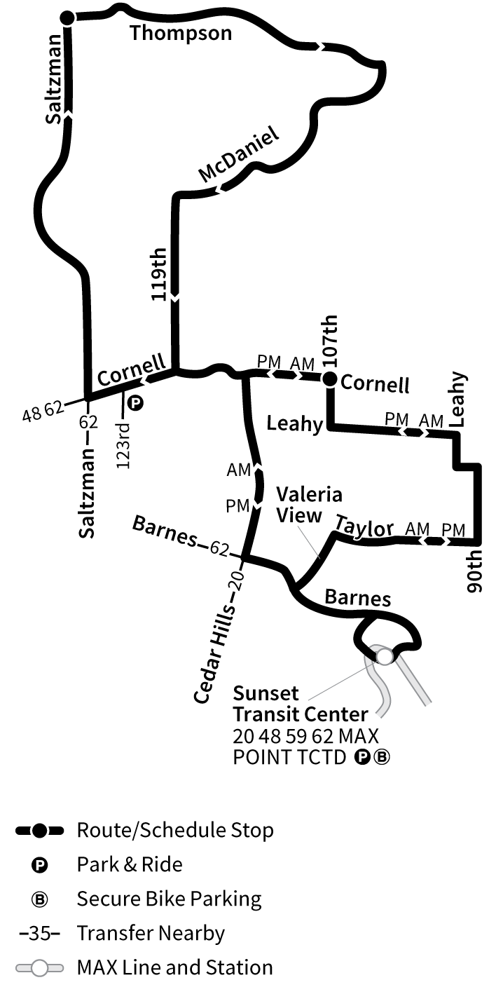 Bus Line 50 route map