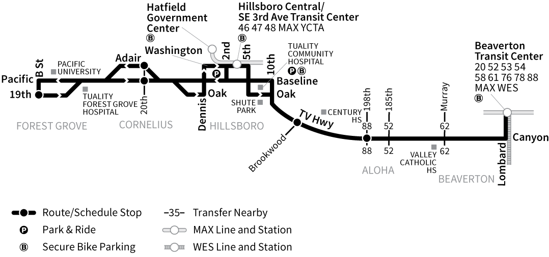 Bus Line 57 route map