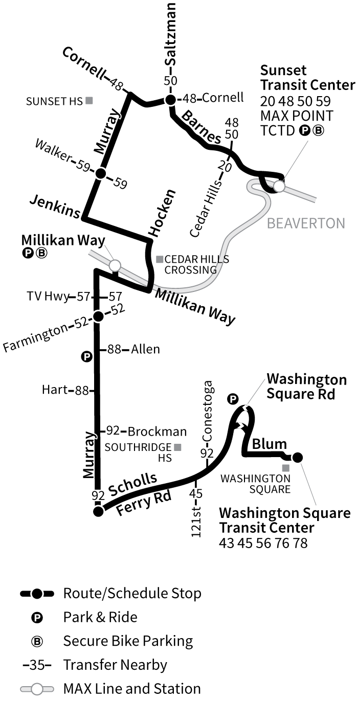 Bus Line 62 route map