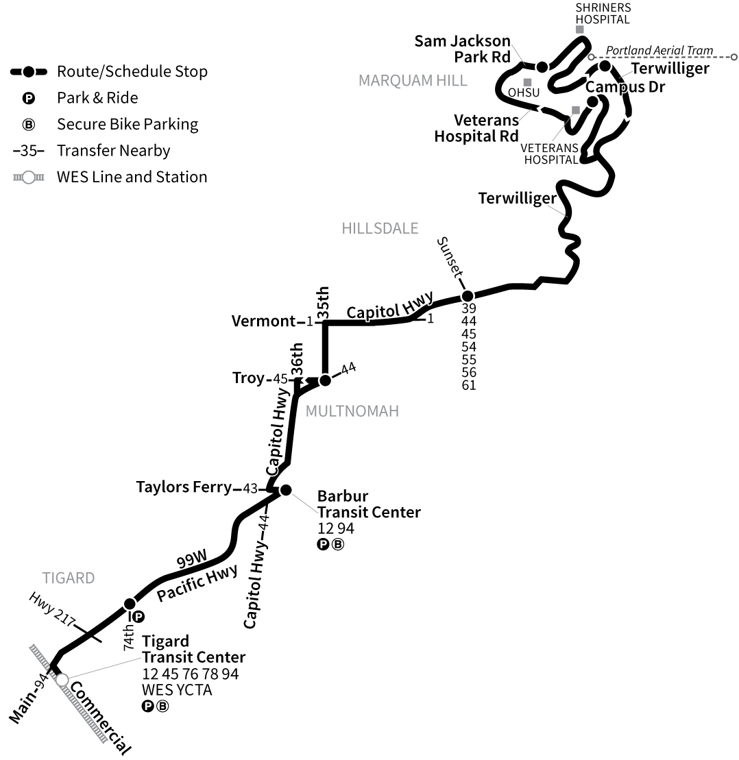 Bus Line 64 route map