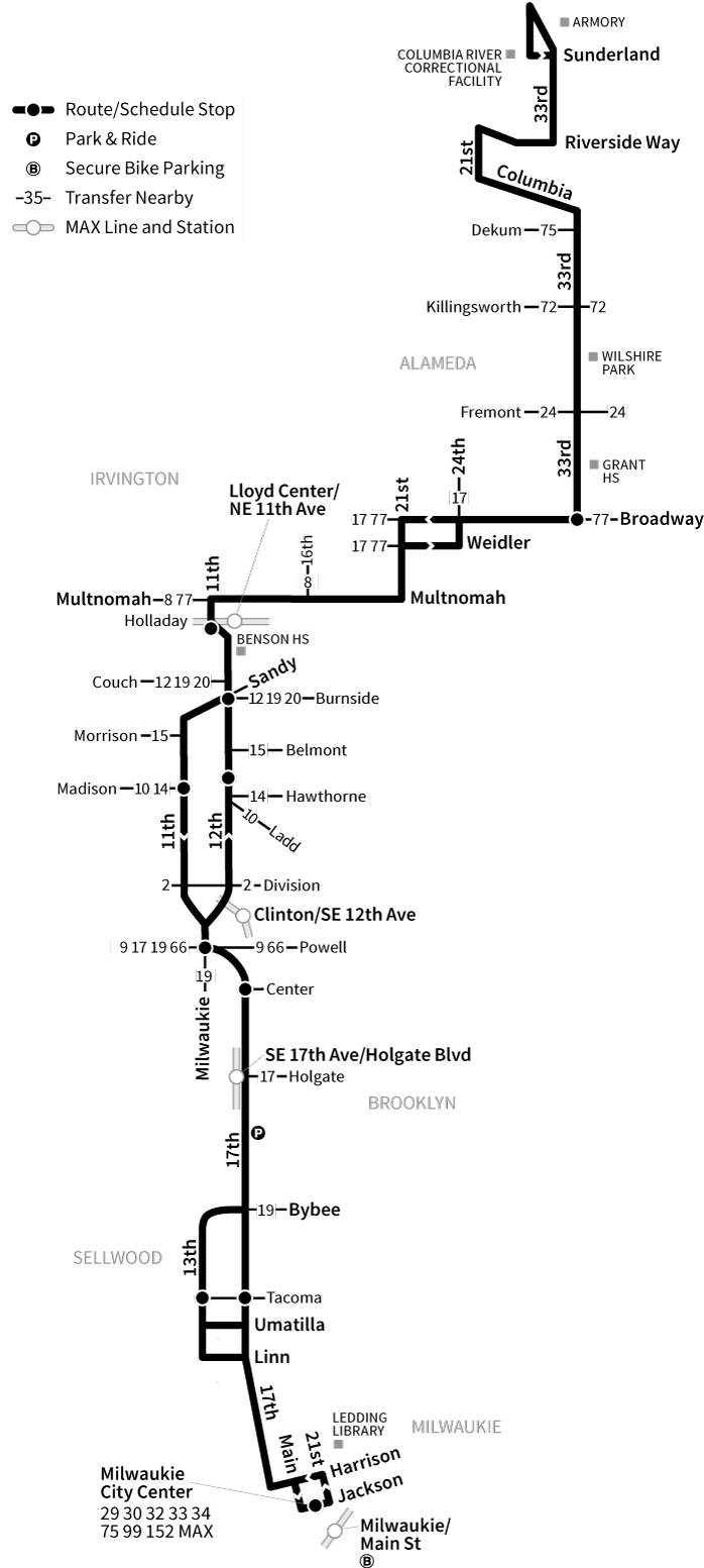 Bus Line 70 route map
