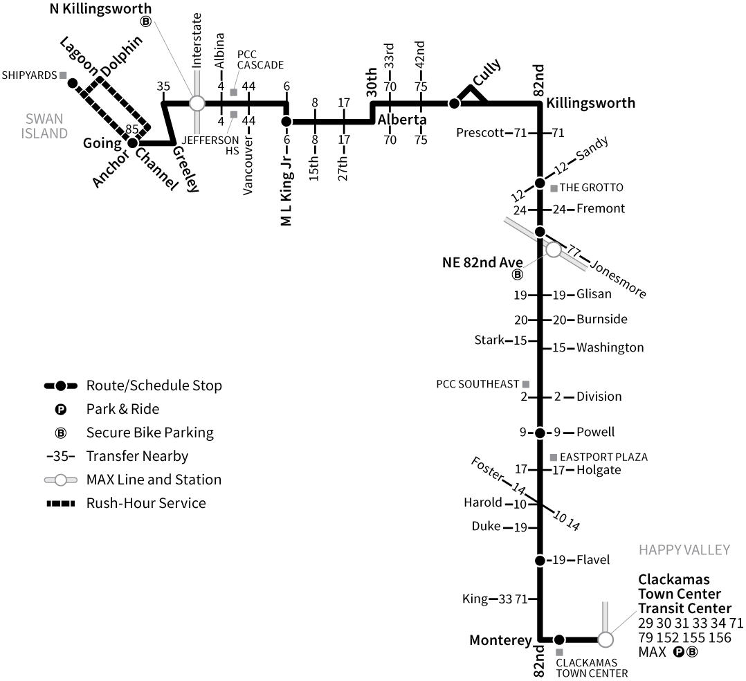 Bus Line 72 route map