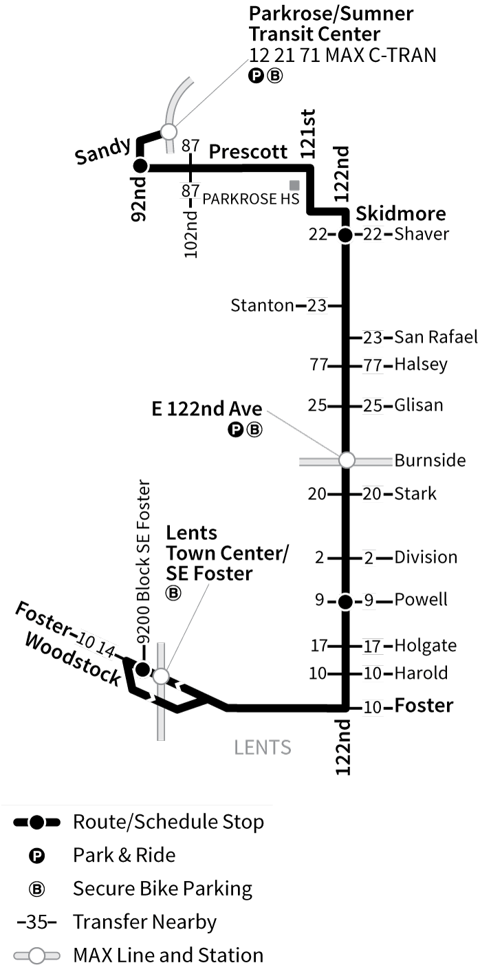 Bus Line 73 route map