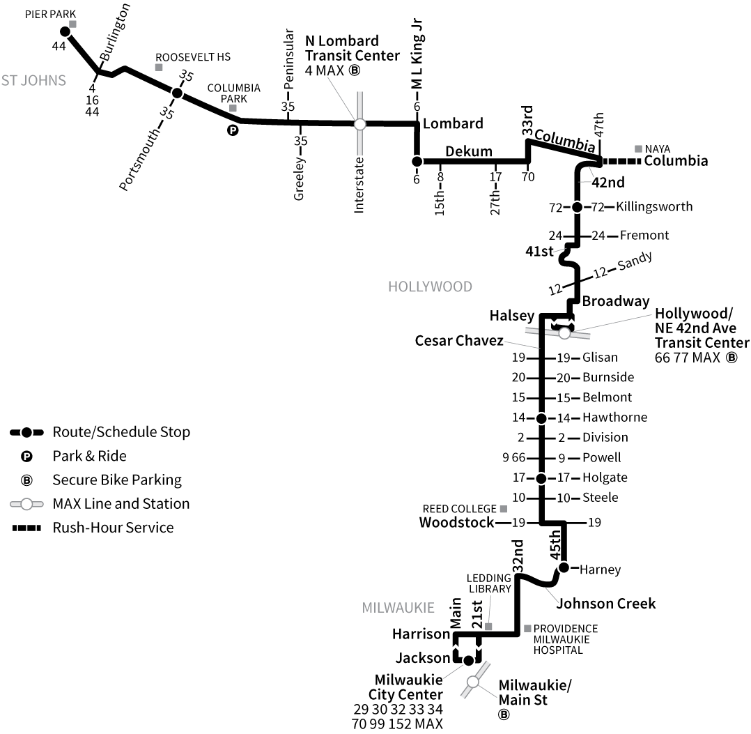 Bus Line 75 route map