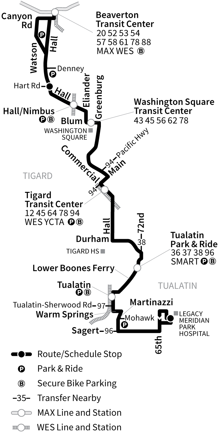Bus Line 76 route map