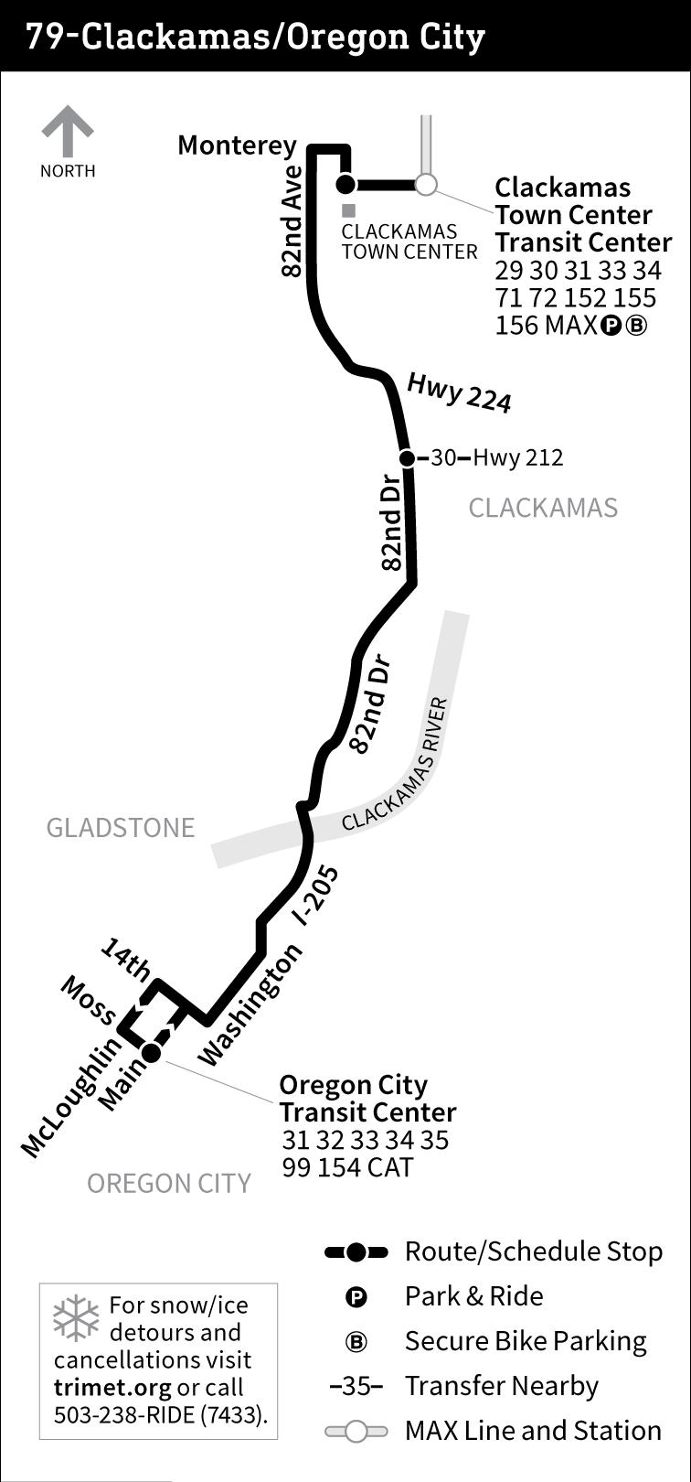 Line 79 Clackamas Oregon City Tri Met Bus Line