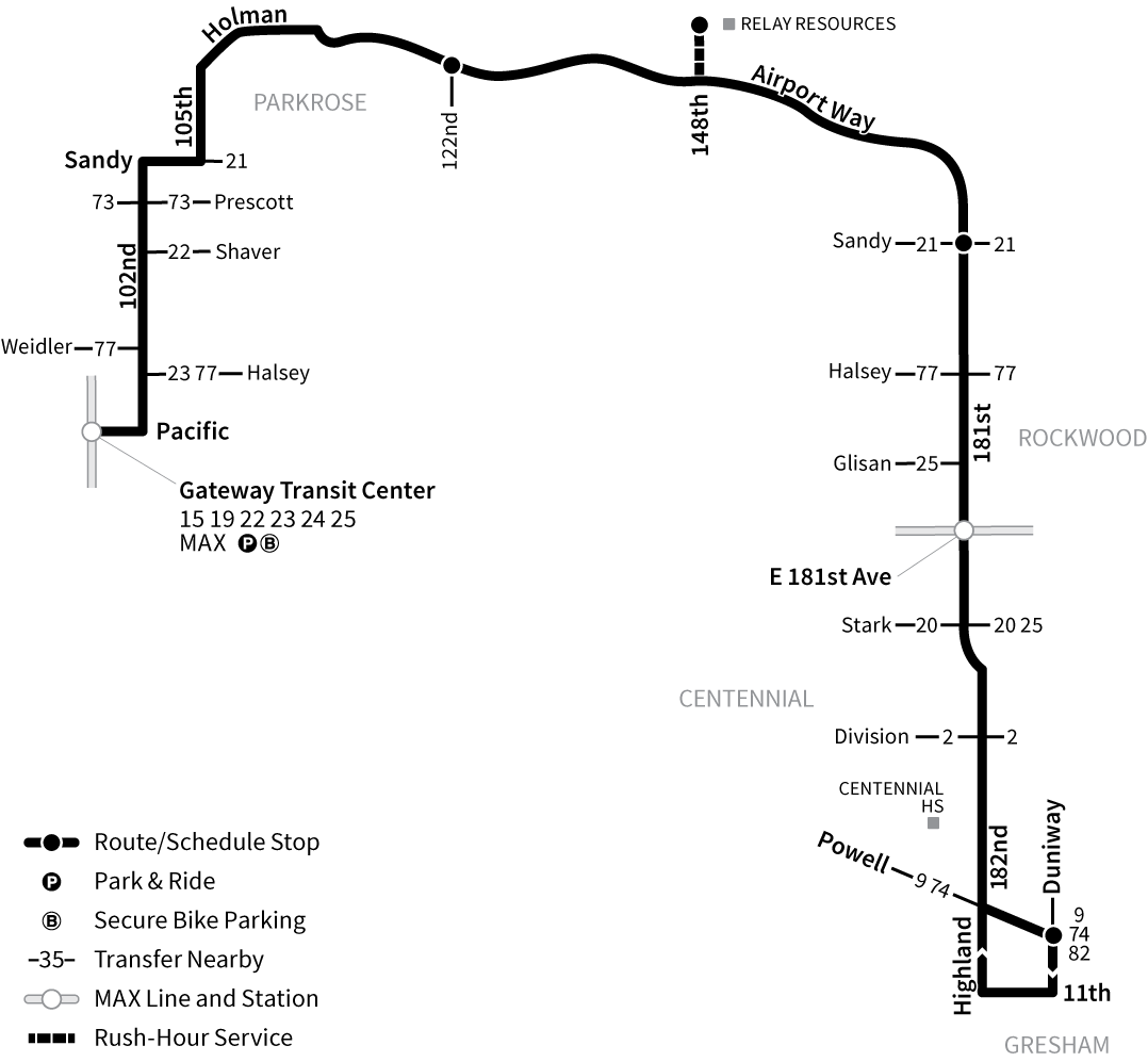 Bus Line 87 route map