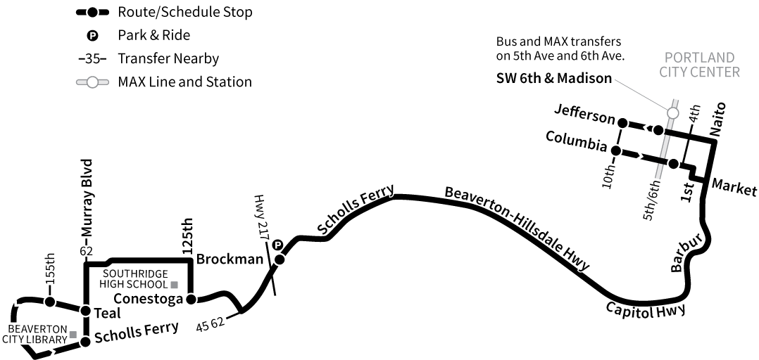 Bus Line 92 route map