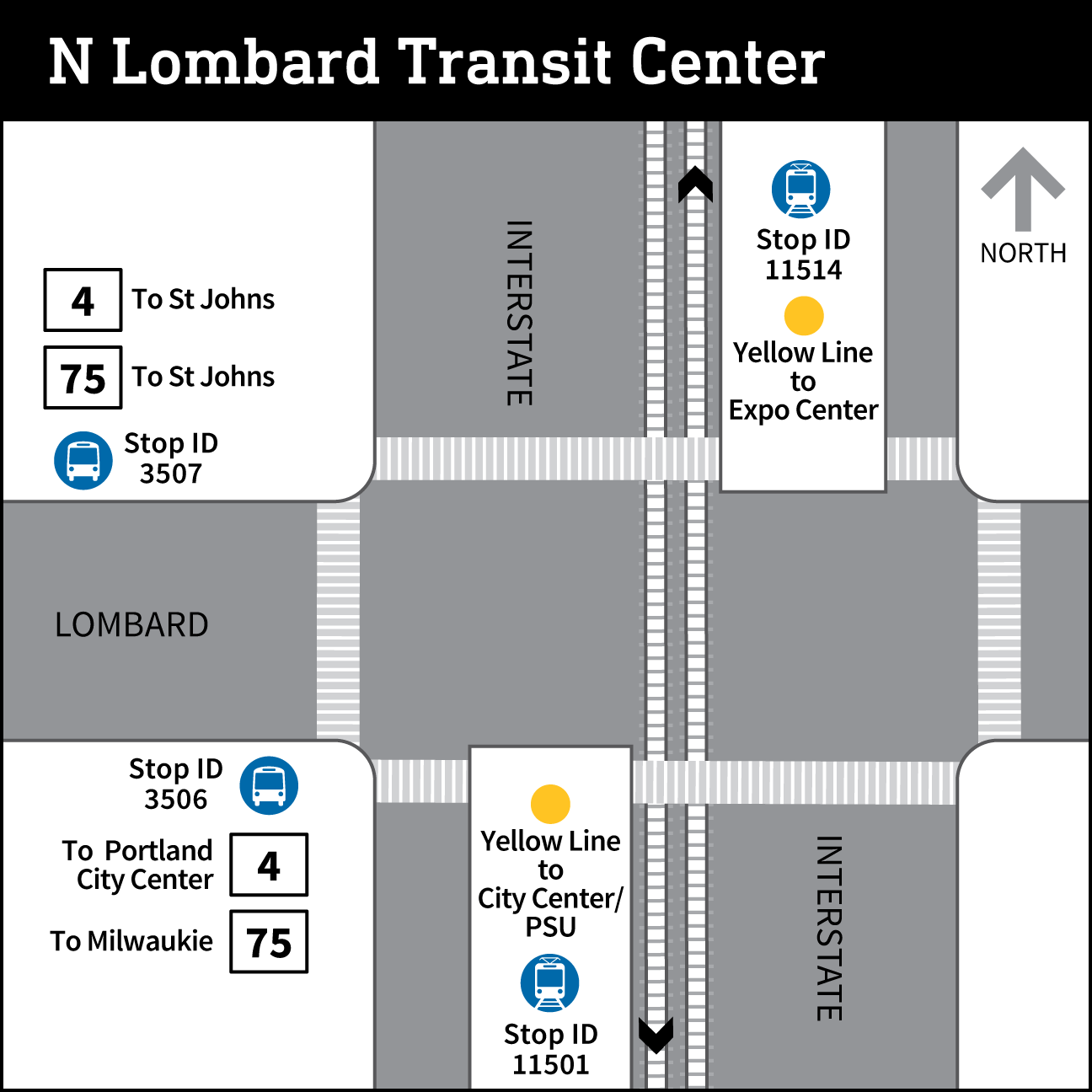 N Lombard Transit Center